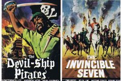 Devil Ship Pirates (1964) -  UK double-bill poster