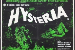 Hysteria (1965) - UK poster