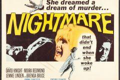 Nightmare (1964) - UK alt poster.