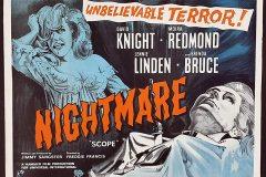 Nightmare (1964) - UK poster.
