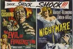 Nightmare (1964) - UK double-bill poster