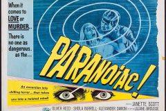 Paranoiac (1963) - UK poster