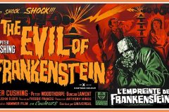 The Evil of Frankenstein (1964) - French poster
