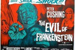 The Evil of Frankenstein (1964) - UK alt poster