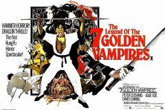 The Legend of the 7 Golden Vampires (1974) - UK poster