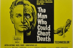 The Man Who Could Cheat Death (1959) - UK poster