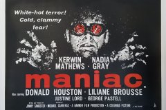The Maniac (1963) - UK poster