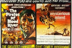 The Pirates of Blood River (1962) - UK double-bill poster