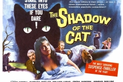 The Shadow of the Cat (1961) - UK poster
