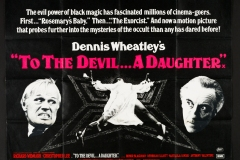 To The Devil a Daughter (1976) - UK poster