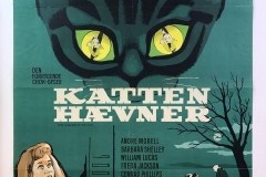 The Shadow of the Cat (1961) - Scandinavian poster
