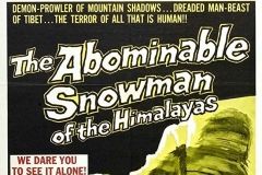 The Abominable Snowman (1958) - US poster